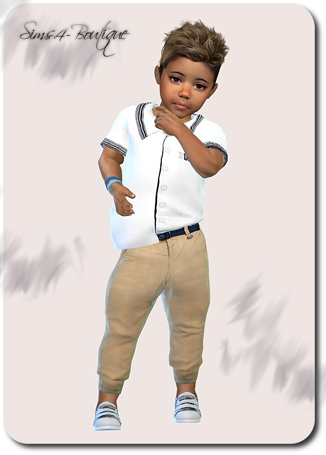 Designer Set for Toddler Boys 1609 at Sims4 Boutique image 21111 Sims 4 Updates