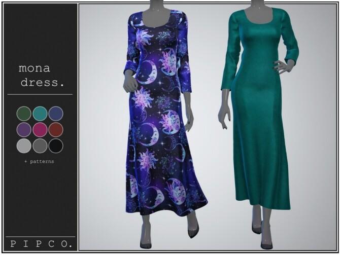Sims 4 Mona dress by pipco at TSR