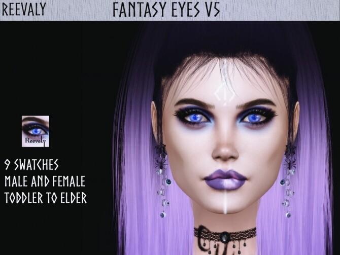 Sims 4 Fantasy Eyes V5 by Reevaly at TSR