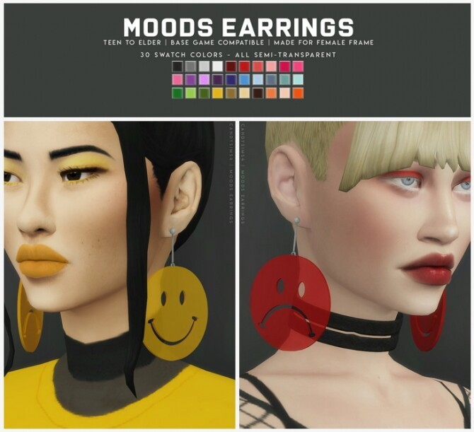 Sims 4 MOODS EARRINGS at Candy Sims 4