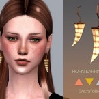 Horn Earrings by DailyStorm