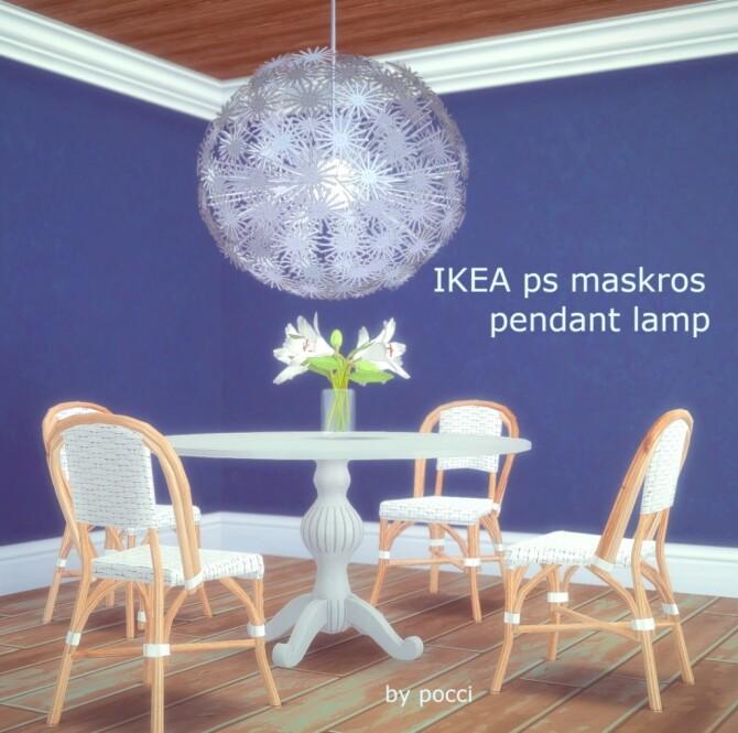 Sims 4 IKEA ps maskros pendant lamp at Garden Breeze Sims 4
