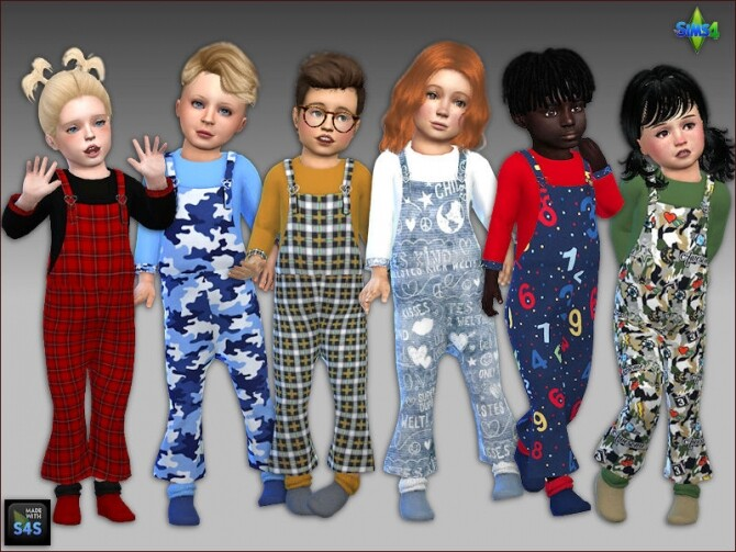 6 Overalls and socks for toddlers at Arte Della Vita image 2162 670x503 Sims 4 Updates