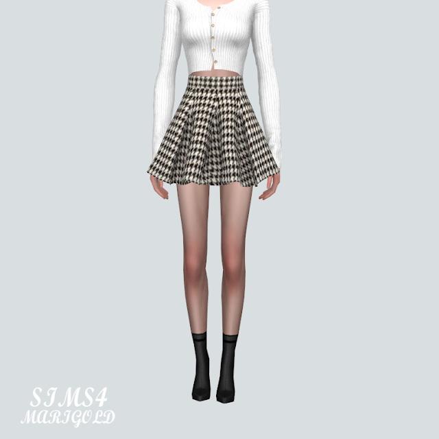 Flare Mini Skirt PP at Marigold image 2164 Sims 4 Updates