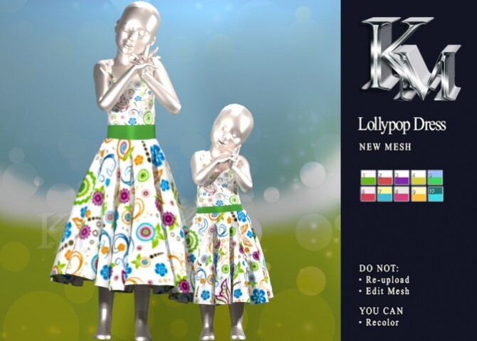 Sims 4 Lollypop Dress Kids & Toddler at KM