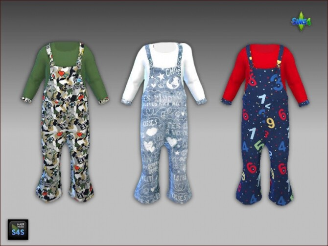 6 Overalls and socks for toddlers at Arte Della Vita image 2182 670x503 Sims 4 Updates