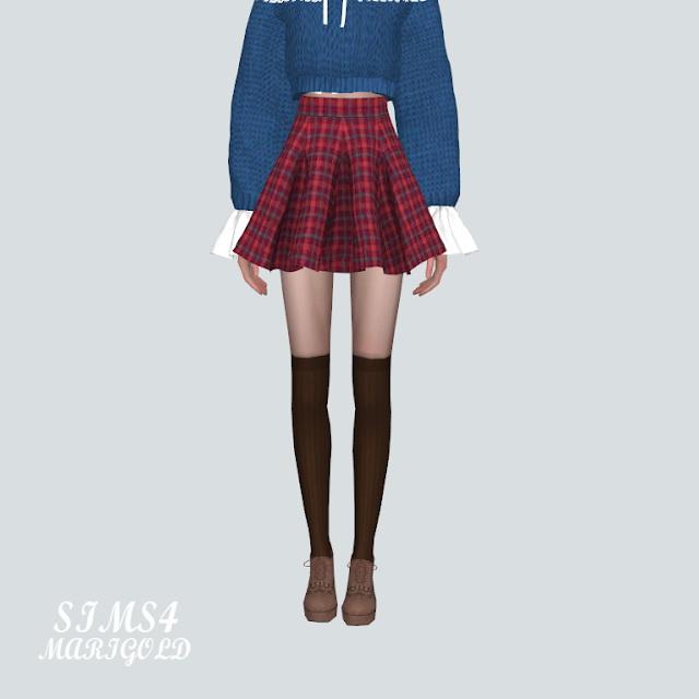 Flare Mini Skirt PP at Marigold image 2184 Sims 4 Updates