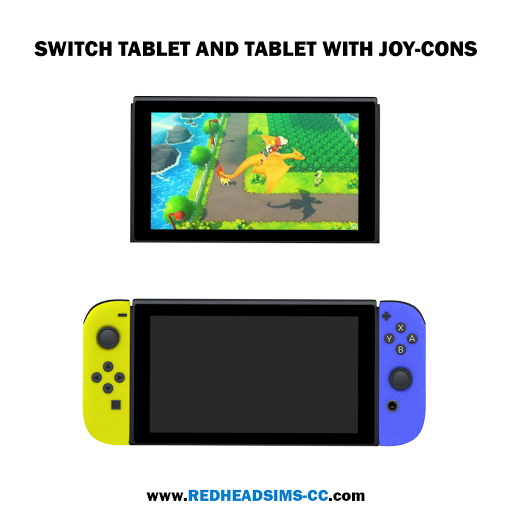 NINTENDO SWITCH   FUNCTIONAL, ACCESSORY AND DECORATION at REDHEADSIMS image 2191 Sims 4 Updates