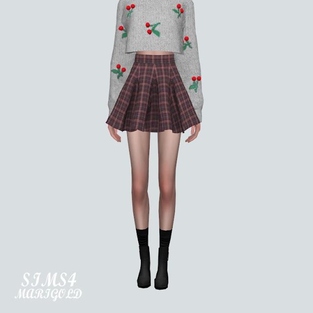Flare Mini Skirt PP at Marigold image 2194 Sims 4 Updates