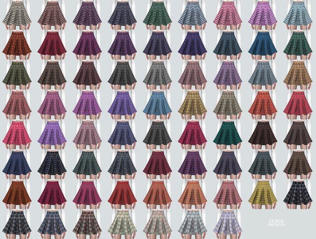Flare Mini Skirt PP at Marigold image 2204 Sims 4 Updates