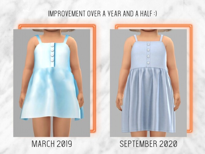 Sims 4 Tank Dress Remake #16 at TØMMERAAS