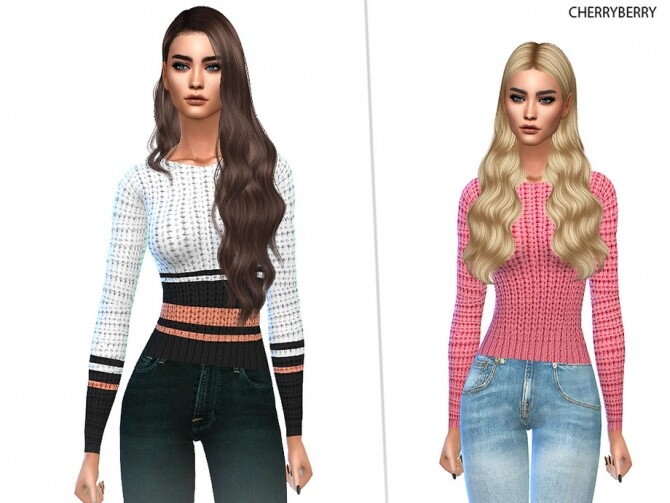 Sims 4 Sweet Sweater by CherryBerrySim at TSR