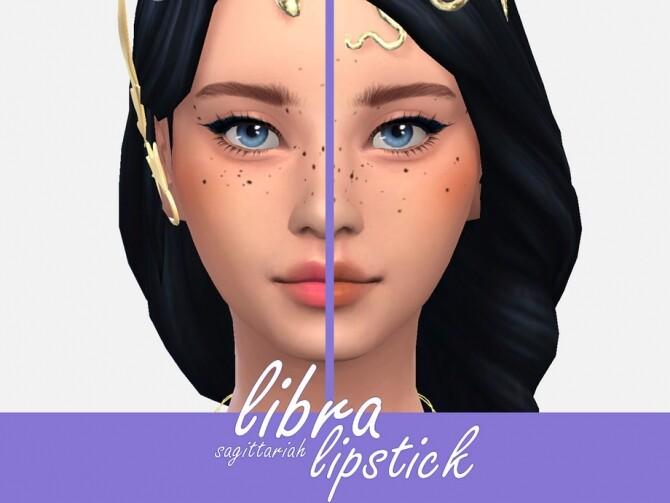 Sims 4 Libra Lipstick by Sagittariah at TSR