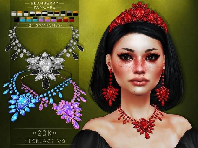 Sims 4 Tiara, necklaces & earrings at Blahberry Pancake