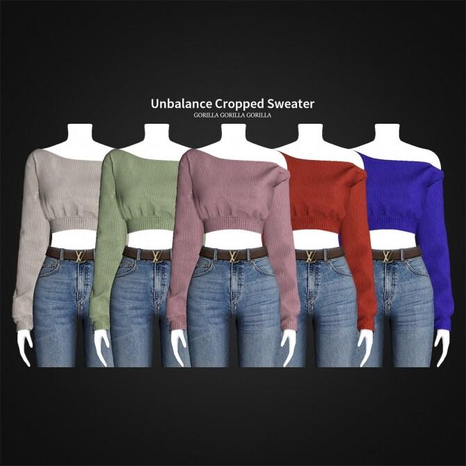 Unbalance Cropped Sweater at Gorilla image 2261 670x670 Sims 4 Updates