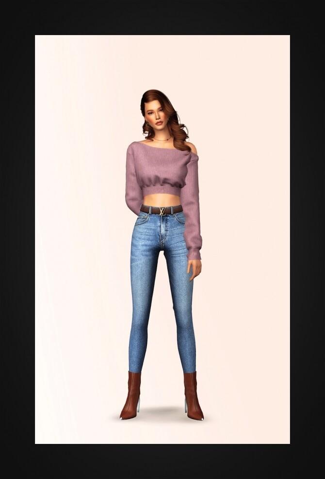 Unbalance Cropped Sweater at Gorilla image 2271 670x985 Sims 4 Updates