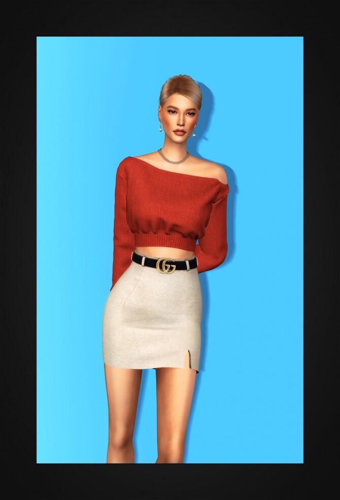Unbalance Cropped Sweater at Gorilla image 2281 670x985 Sims 4 Updates