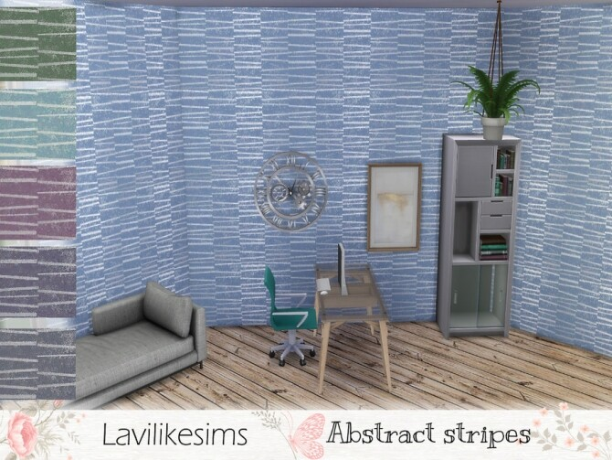 Sims 4 Abstract Stripes wallpaper by lavilikesims at TSR