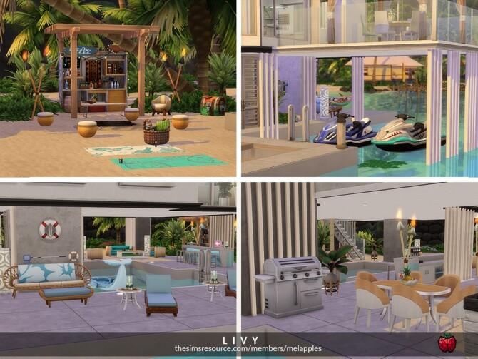 Sims 4 Livy villa by melapples at TSR