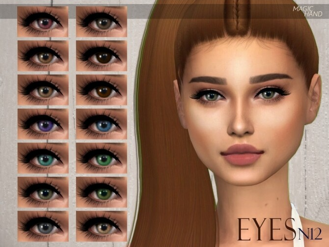 Sims 4 Eyes N12 by MagicHand at TSR
