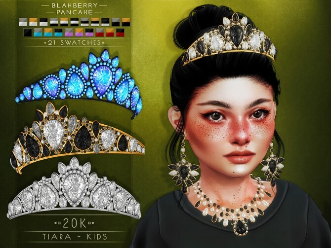 20k earrings, necklaces and tiara at Blahberry Pancake image 2321 670x503 Sims 4 Updates
