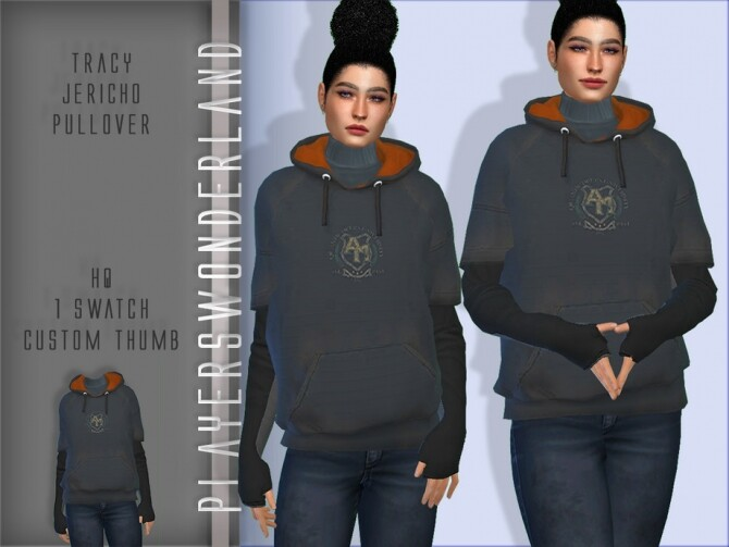 Sims 4 Tracy Jericho Pullover by PlayersWonderland at TSR