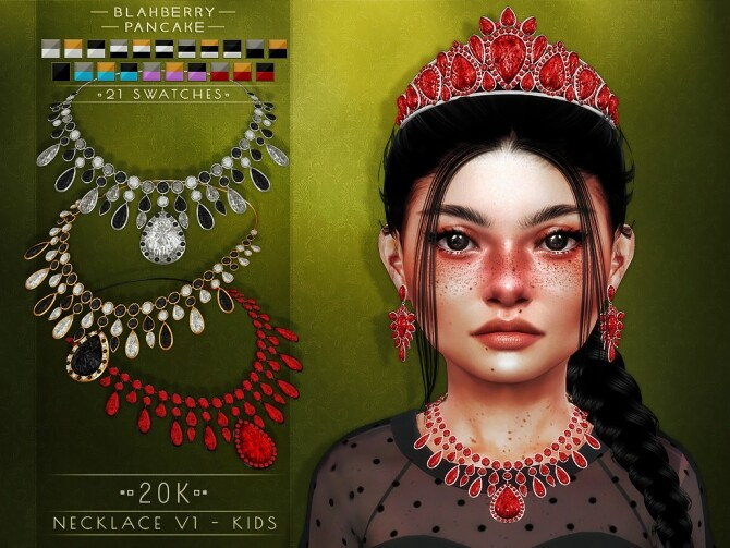 20k earrings, necklaces and tiara at Blahberry Pancake image 2331 670x503 Sims 4 Updates