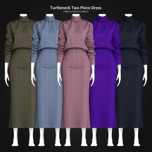 Turtleneck Two Piece Dress