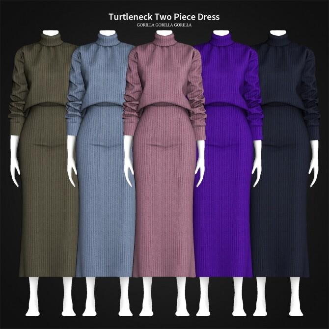 Turtleneck Two Piece Dress at Gorilla image 2333 670x670 Sims 4 Updates