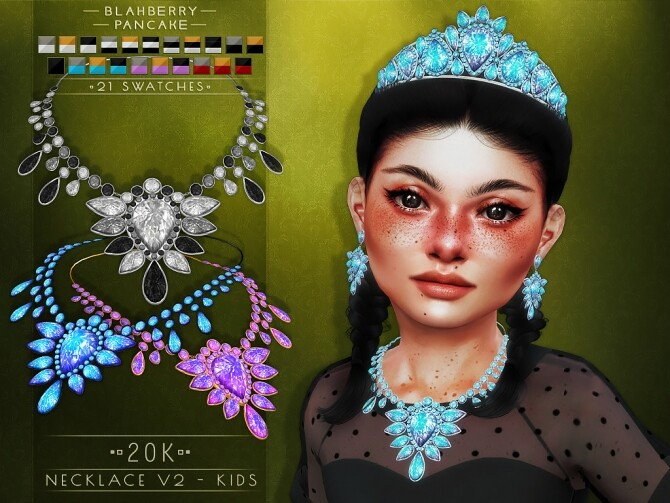 20k earrings, necklaces and tiara at Blahberry Pancake image 2341 670x503 Sims 4 Updates