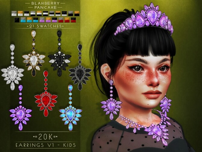 20k earrings, necklaces and tiara at Blahberry Pancake image 2351 670x503 Sims 4 Updates