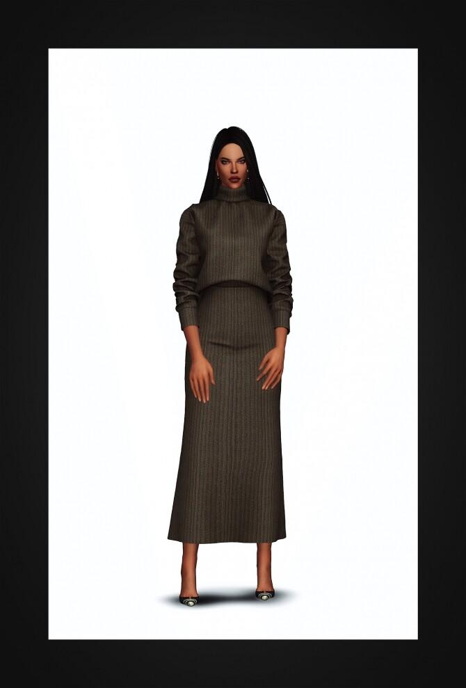 Turtleneck Two Piece Dress at Gorilla image 2353 670x989 Sims 4 Updates