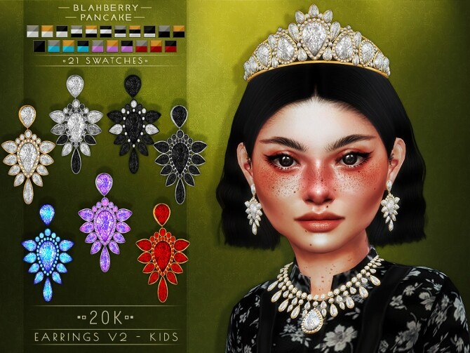 20k earrings, necklaces and tiara at Blahberry Pancake image 2361 670x503 Sims 4 Updates