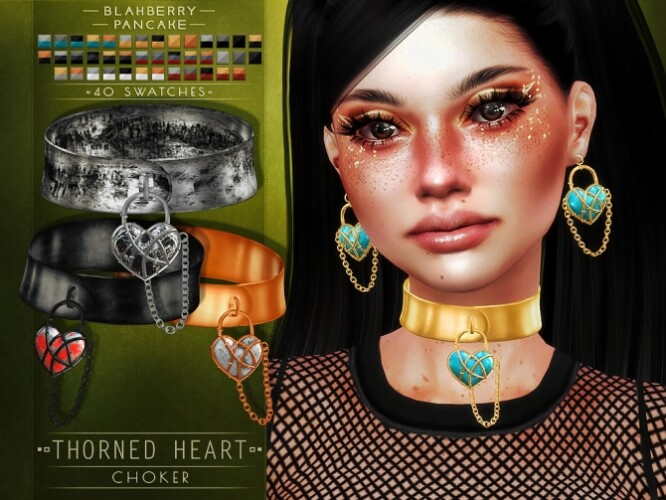 Thorned Heart Choker Earrings Bracelet Ring