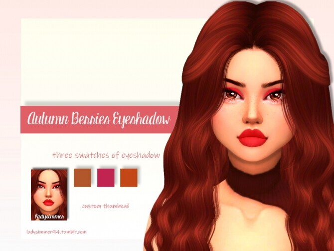 Sims 4 Autumn Berries Eyeshadow by LadySimmer94 at TSR