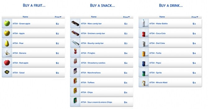 Sims 4 Functional vending machines at Around the Sims 4