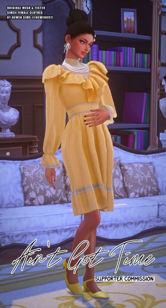 Aint Got Time Dresses at NEWEN image 2484 539x1000 Sims 4 Updates