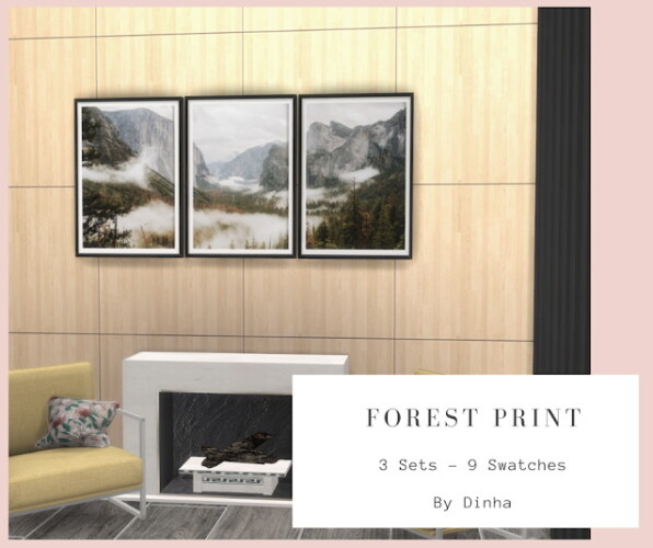 Forest Print - 3 Sets - 9 Swatches