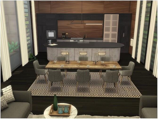Sims 4 Green Wood home by lotsbymanal at TSR