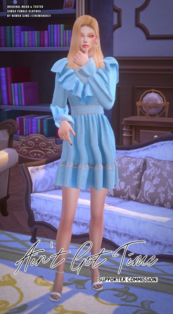 Aint Got Time Dresses at NEWEN image 2504 551x1000 Sims 4 Updates