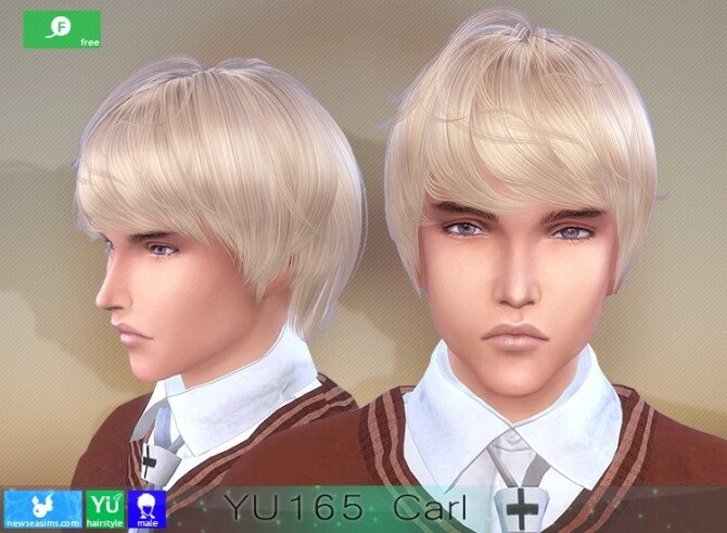 YU165 Carl hair for males at Newsea Sims 4 image 2516 670x491 Sims 4 Updates