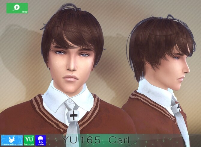 Sims 4 YU165 Carl hair for males at Newsea Sims 4