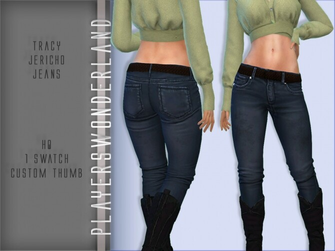 Sims 4 Tracy Jericho Jeans by PlayersWonderland at TSR