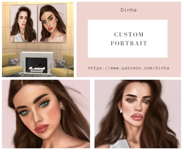 Sims 4 Custom Portrait N 2 5 Swatches at Dinha Gamer