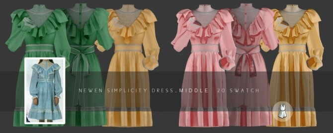 Sims 4 Aint Got Time Dresses at NEWEN