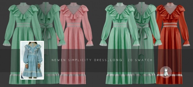 Aint Got Time Dresses at NEWEN image 2553 670x304 Sims 4 Updates