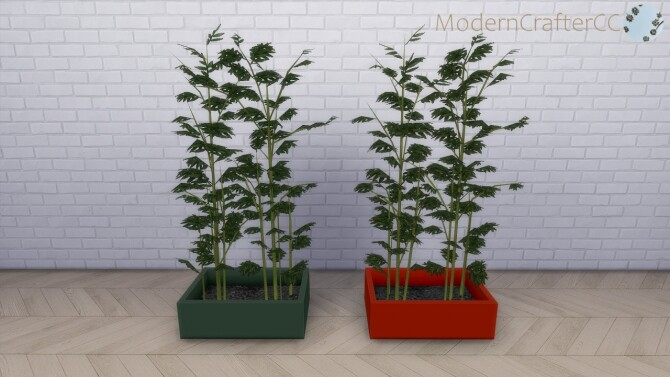 Sims 4 Potted Modern Asian Bamboo at Modern Crafter CC