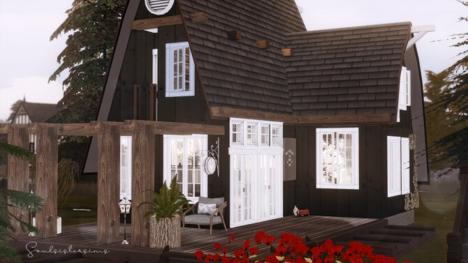 Sims 4 Hush Rustic Cottage at SoulSisterSims