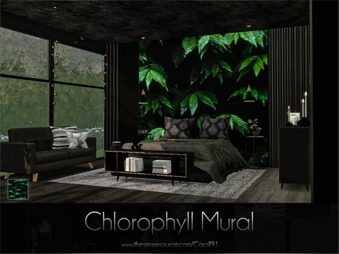 Sims 4 Chlorophyll Mural by Caroll91 at TSR