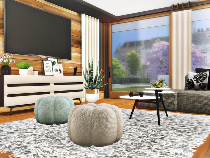Sims 4 Cornell house by Rirann at TSR
